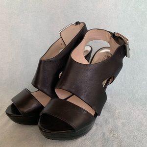 Michael Kors Shoes - Carla leather platform heels
